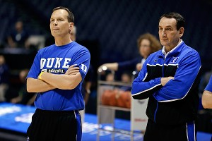 Chris Collins and Mike Krzyzewski