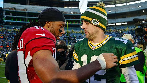 Larry Fitzgerald, Aaron Rodgers