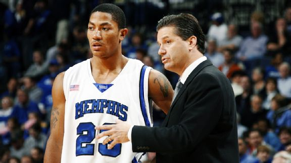 Derrick Rose and John Calipari