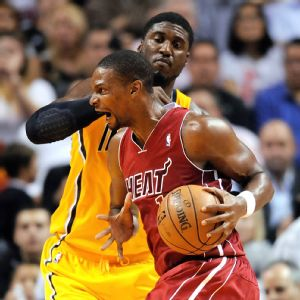 Roy Hibbert and Chris Bosh
