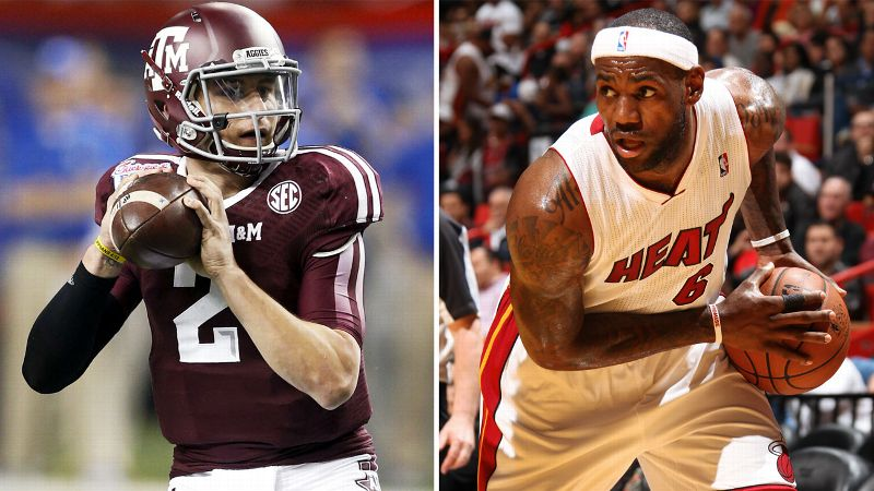 Johnny Manziel, LeBron James