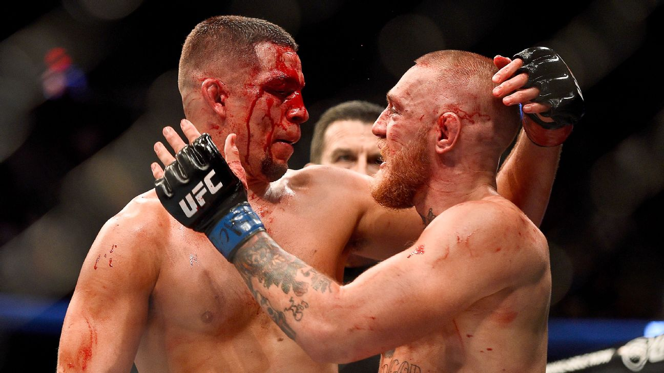 Nate Diaz has not faught since August of 2016 when he lost a close decision to Conor McGregor.