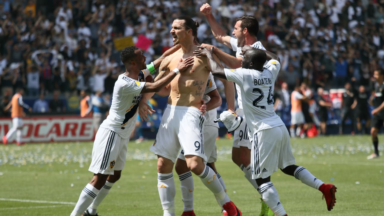 Zlatan Ibrahimovic capped off the Galaxy's miraculous comeback win over LAFC.