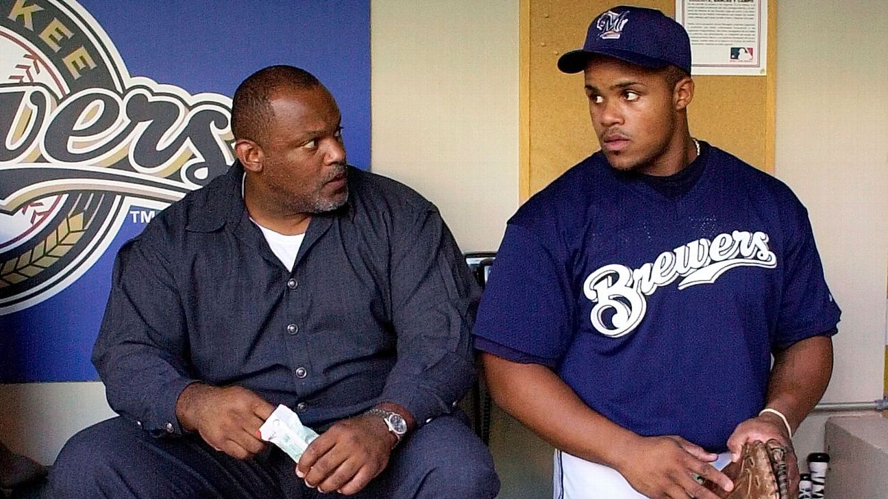 Cecil Fielder (left) and Prince Fielder are the only father-son duo to each hit 50 home runs in a season.