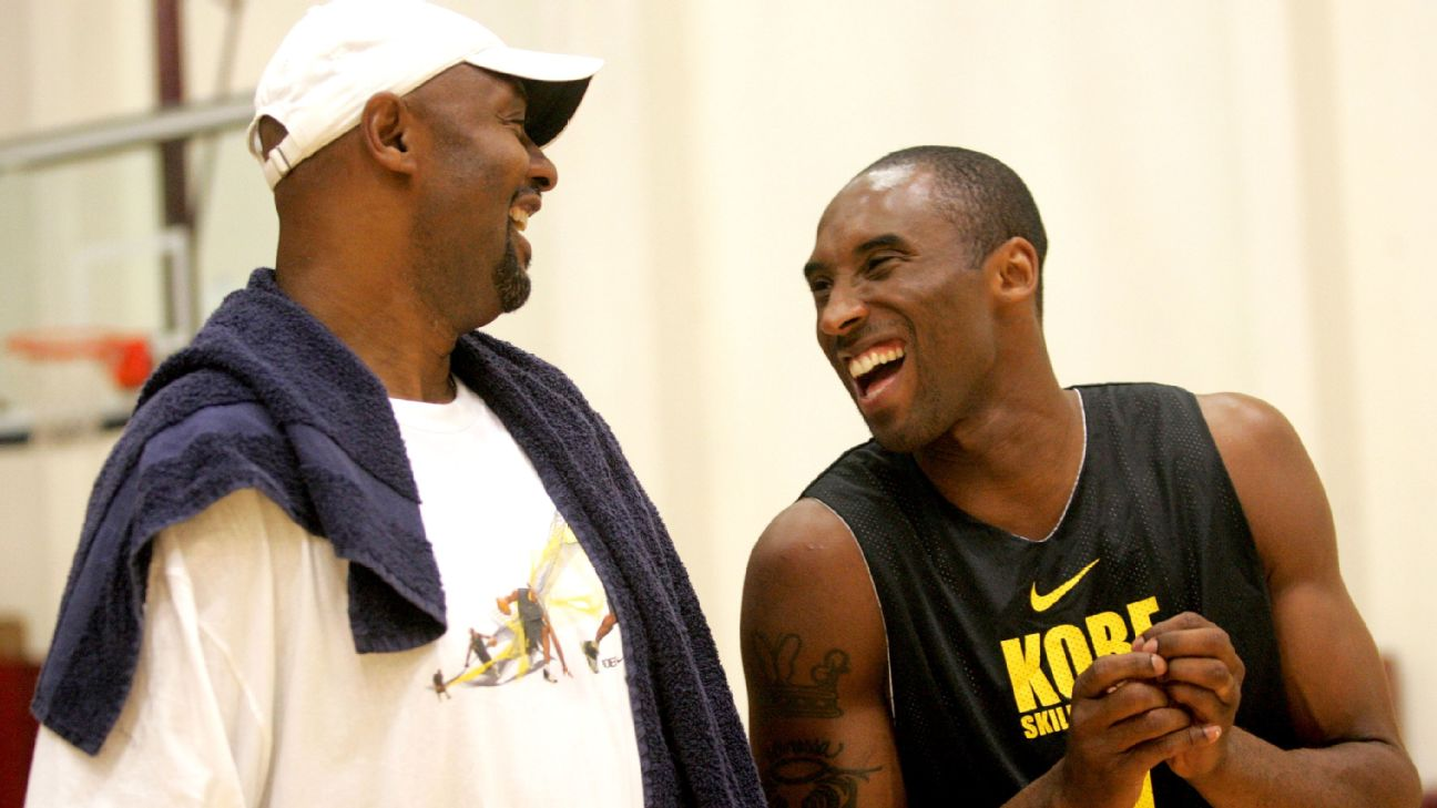"Five-time NBA champion Kobe Bryant (right) has made his father, Joe ""Jellybean"" Bryant, proud."
