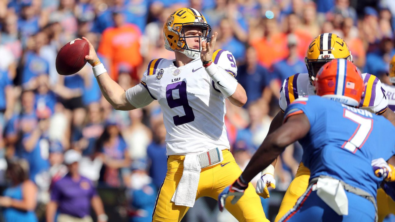 LSU's Joe Burrow leads the Tigers to two wins and a matchup with Ohio State.