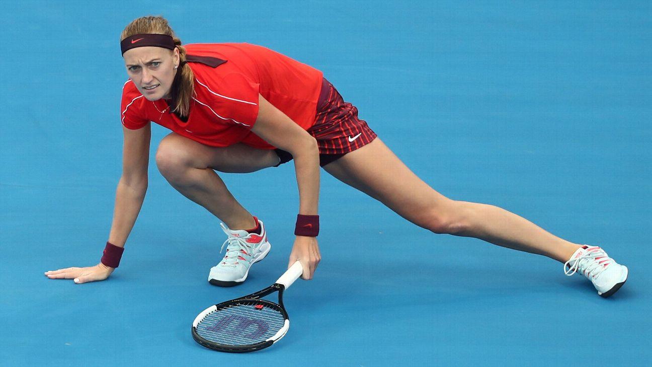Dual Wimbledon champion Petra Kvitova has crashed out of the Brisbane International, falling to Estonia's Anett Kontaveit in the second round.