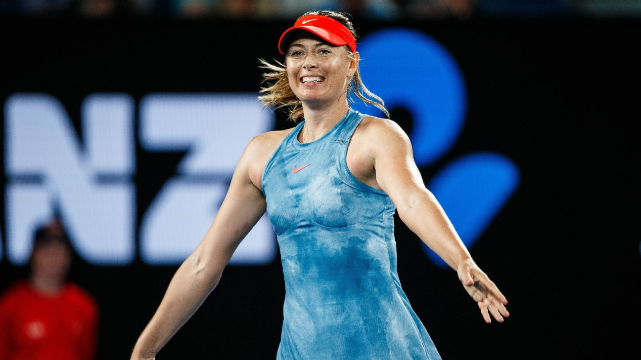 Maria Sharapova celebrates after winning through to the fourth round of the 2019 Australian Open. Chaz Niell/Icon Sportswire via Getty Images