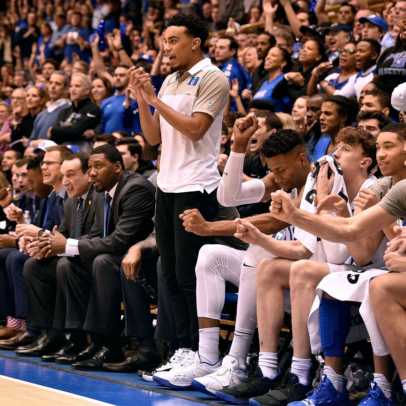 After knocking Virginia from the ranks of the undefeated Saturday, Duke coach Mike Krzyzewski said it was decided a day earlier that injured point guard Tre Jones wasn't healthy enough to face the Cavaliers.