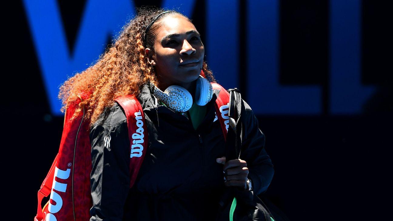 Serena Williams and world No. 1 Simona Halep clash Monday at the Australian Open.