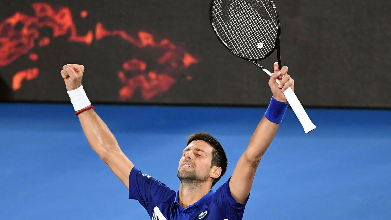 For the first time since 2016, top-seeded Novak Djokovic has reached the Australian Open quarterfinals, where he will face Kei Nishikori, a five-set victor over Pablo Carreno Busta.