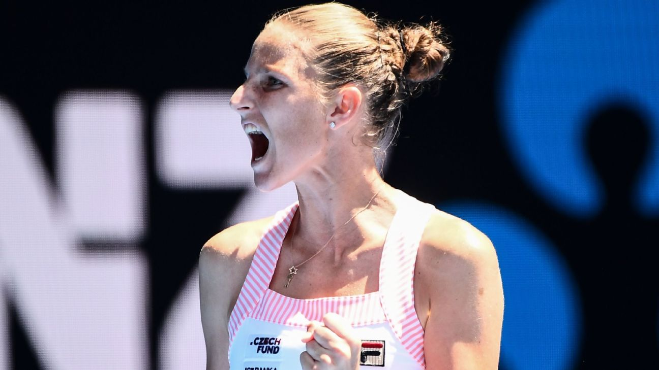 No. 7 seed Karolina Pliskova overcame four match points to reach the Australian Open semifinals with a 6-4, 4-6, 7-5 win over No. 16 seed Serena Williams on Wednesday. She will next face US Open champion Naomi Osaka.