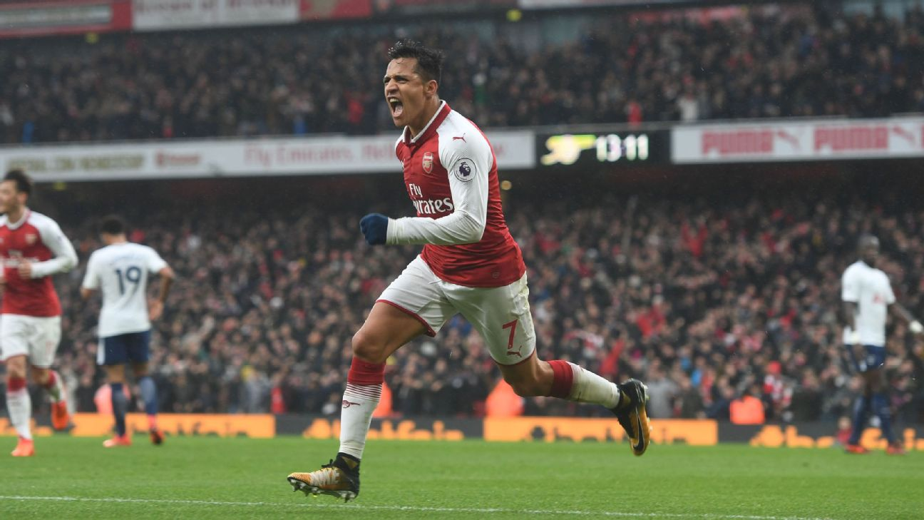 Alexis Sanchez was twice voted Arsenal's Player of the Season during his three-and-a-half years there.