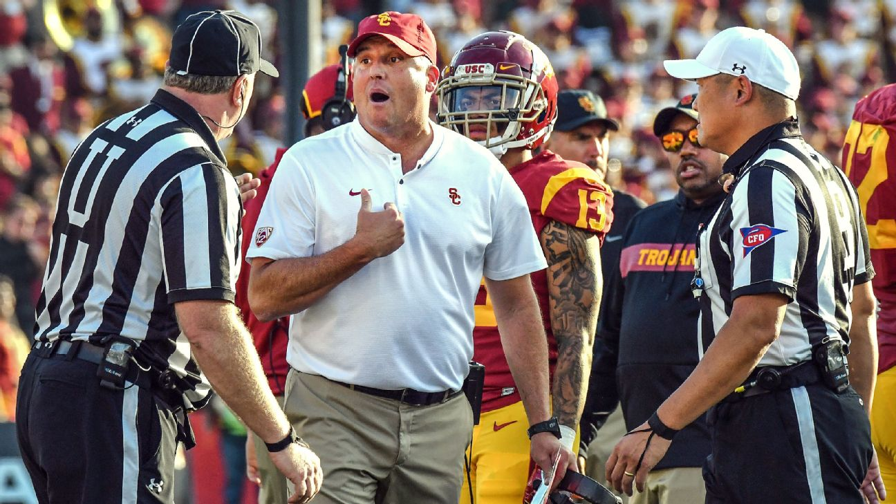 The Trojans' top recruit transferred after Kliff Kingsbury quickly bolted for the NFL, but embattled coach Clay Helton still has a lot of talent on the roster.