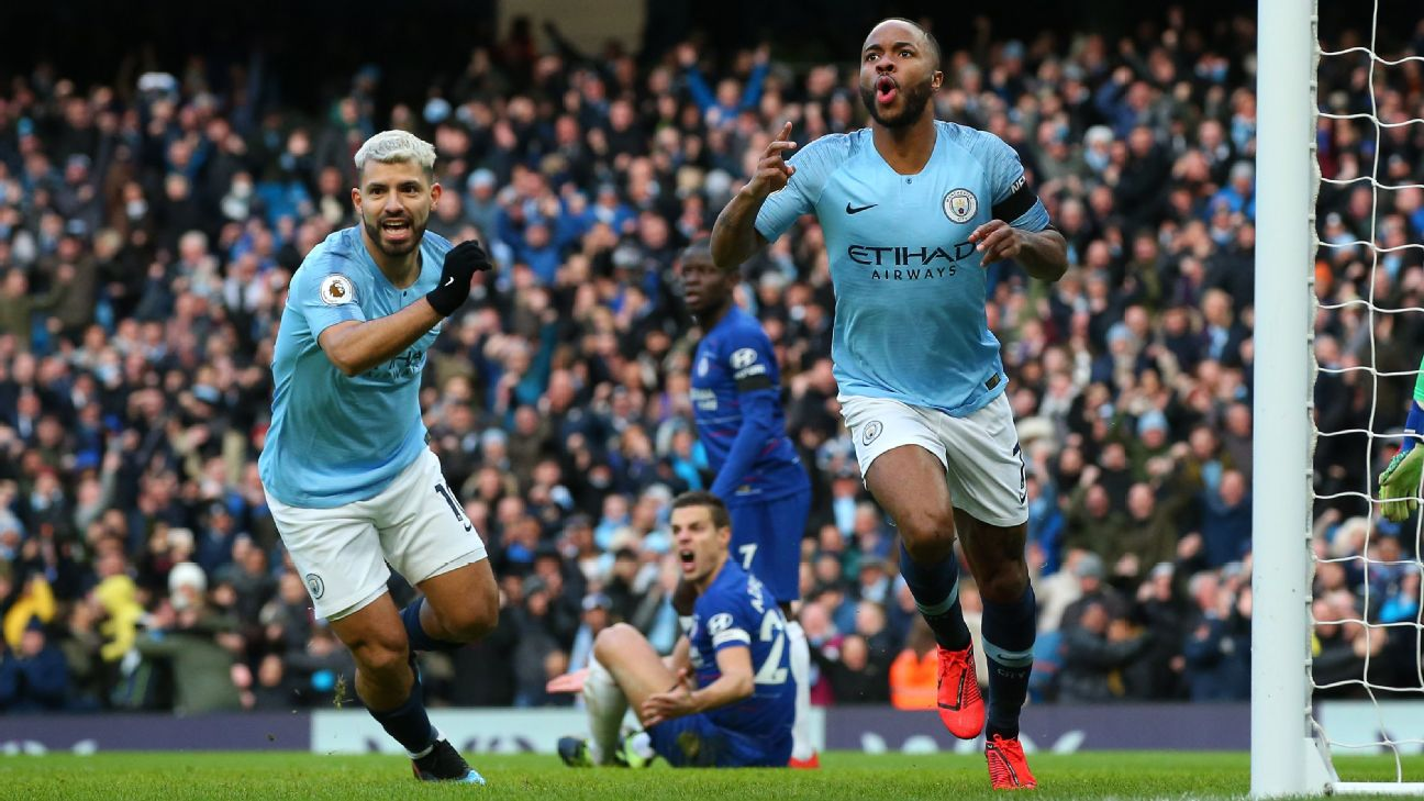 Raheem Sterling could edge out teammate Sergio Aguero for Player of the Year honours with a strong finish to the season.
