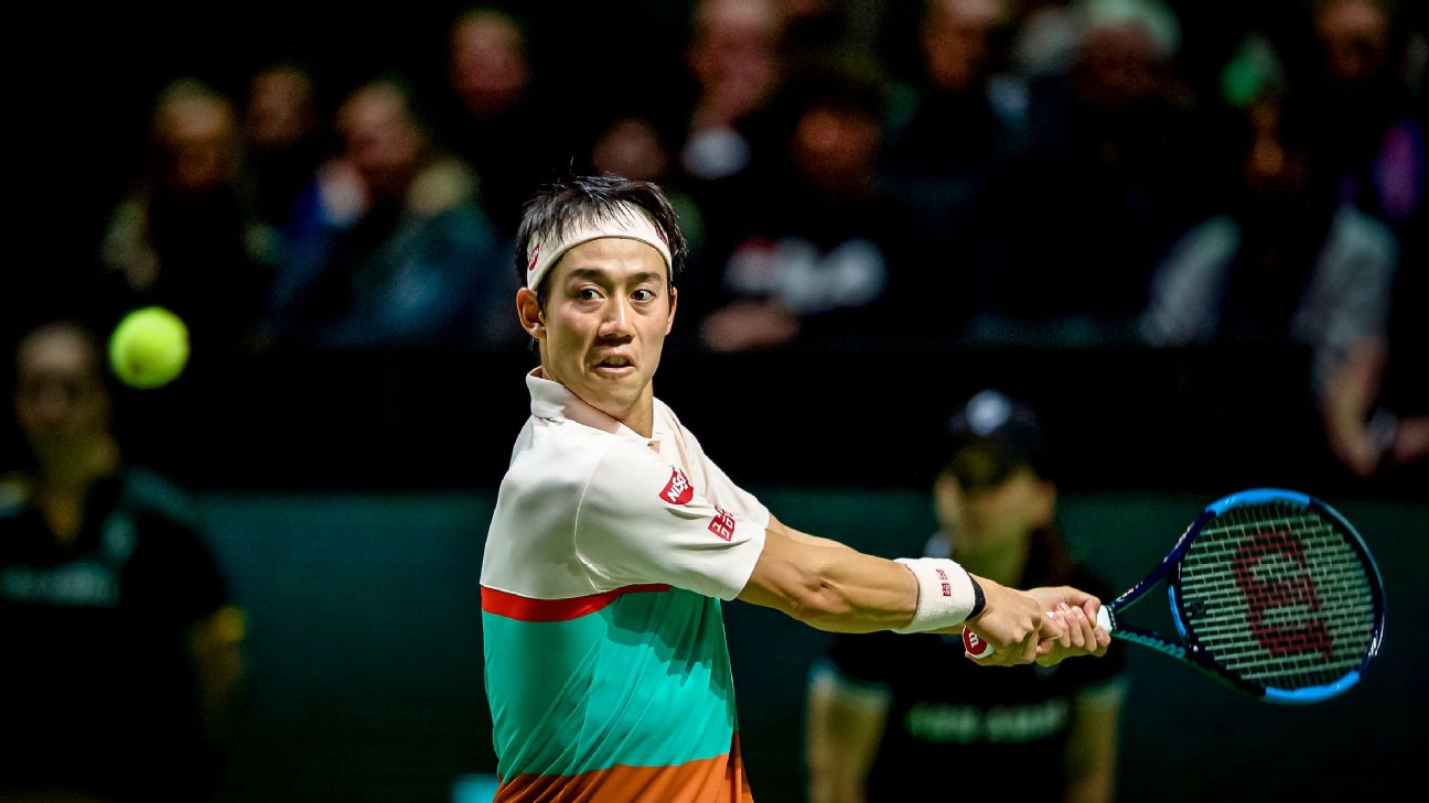 Kei Nishikori and Milos Raonic are both through to the second round of the Rotterdam Open.