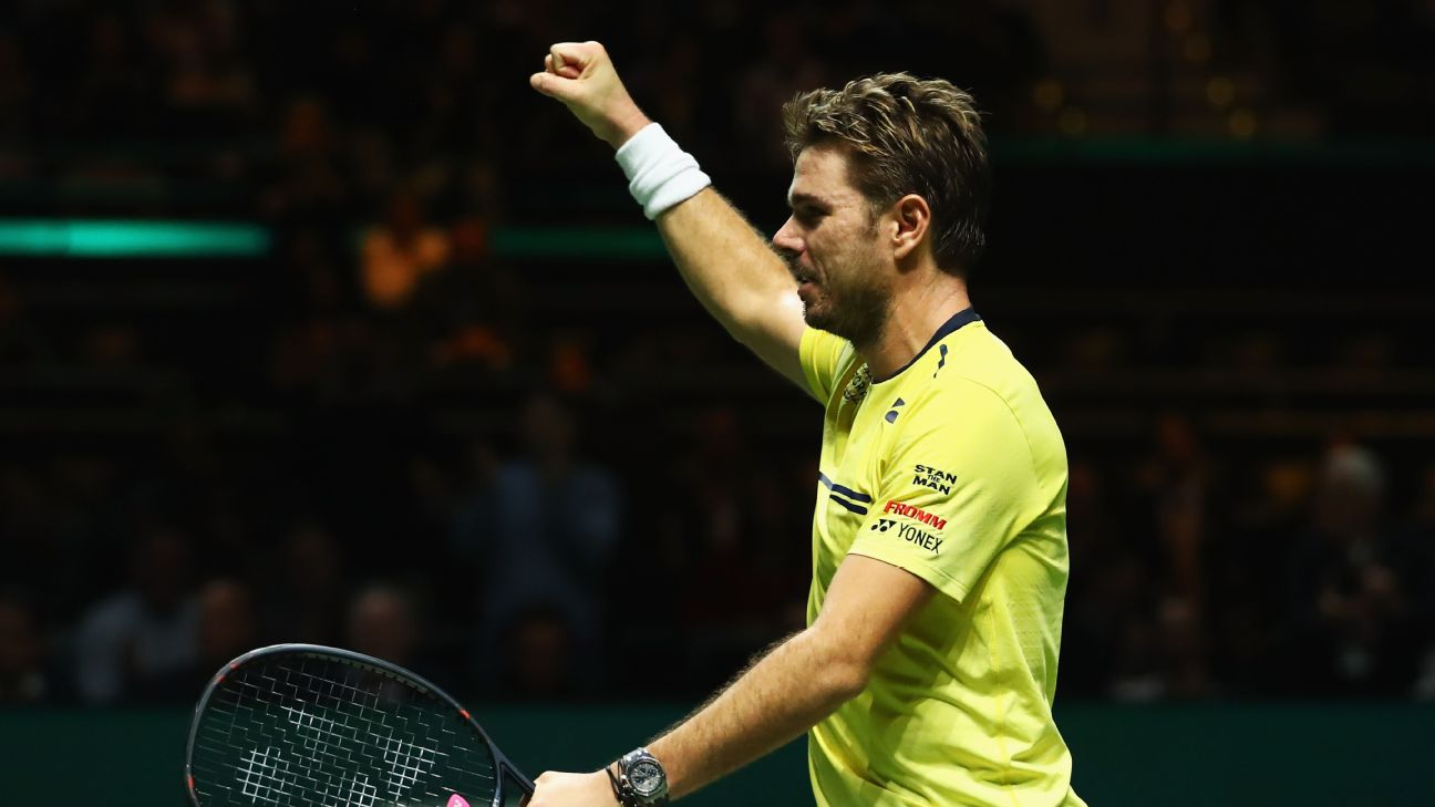 Three-times Grand Slam champion Stan Wawrinka battled past Kei Nishikori 6-2, 4-6, 6-4 in Rotterdam on Saturday to reach his first final since 2017.