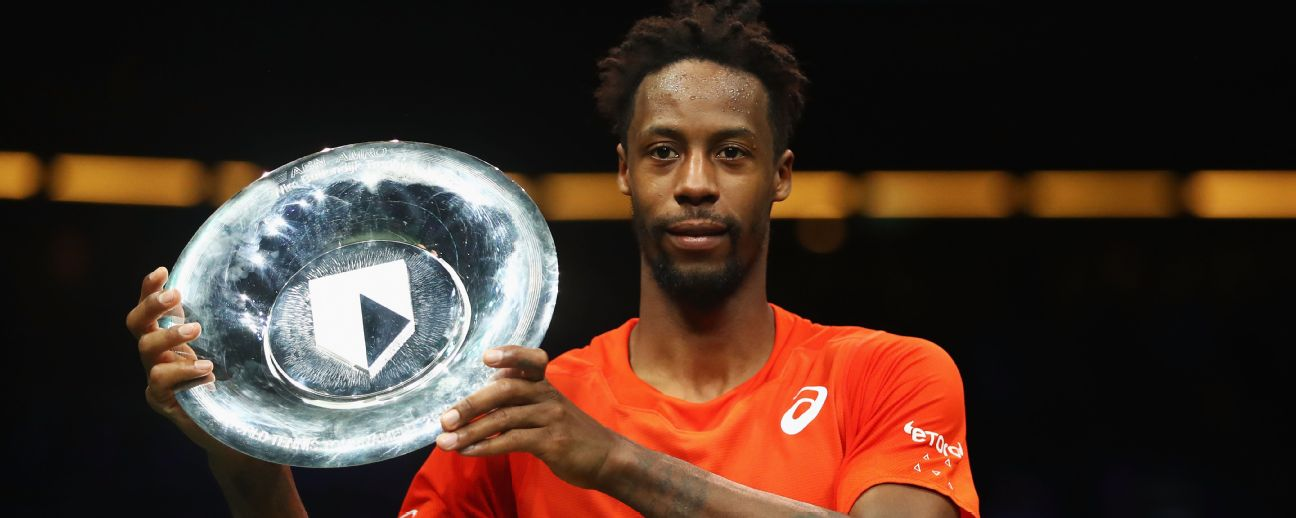 Gael Monfils defeated No. 5 seed Daniil Medvedev on Saturday to set up the final with Stan Wawrinka in Rotterdam Dean Mouhtaropoulos/Getty Images