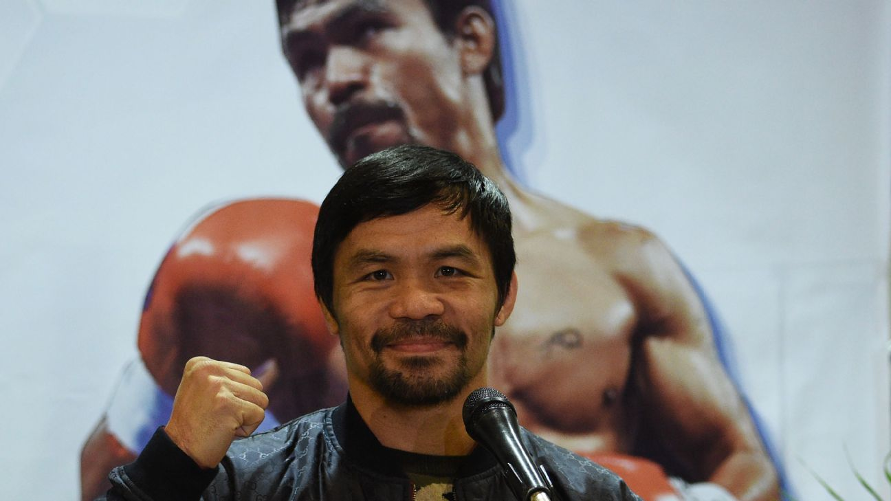 Manny Pacquiao has crafted a legendary career, winning world titles in a record eight divisions, but he doesn't want his son Jimuel to follow in his footsteps.