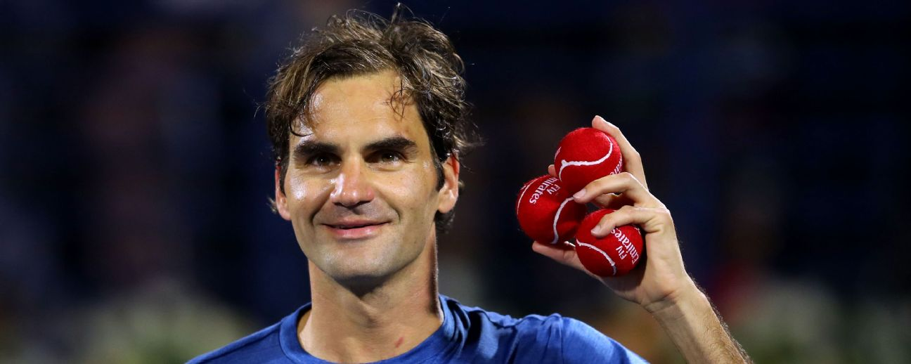 Roger Federer could win the 100th title of his career at the Dubai Open.