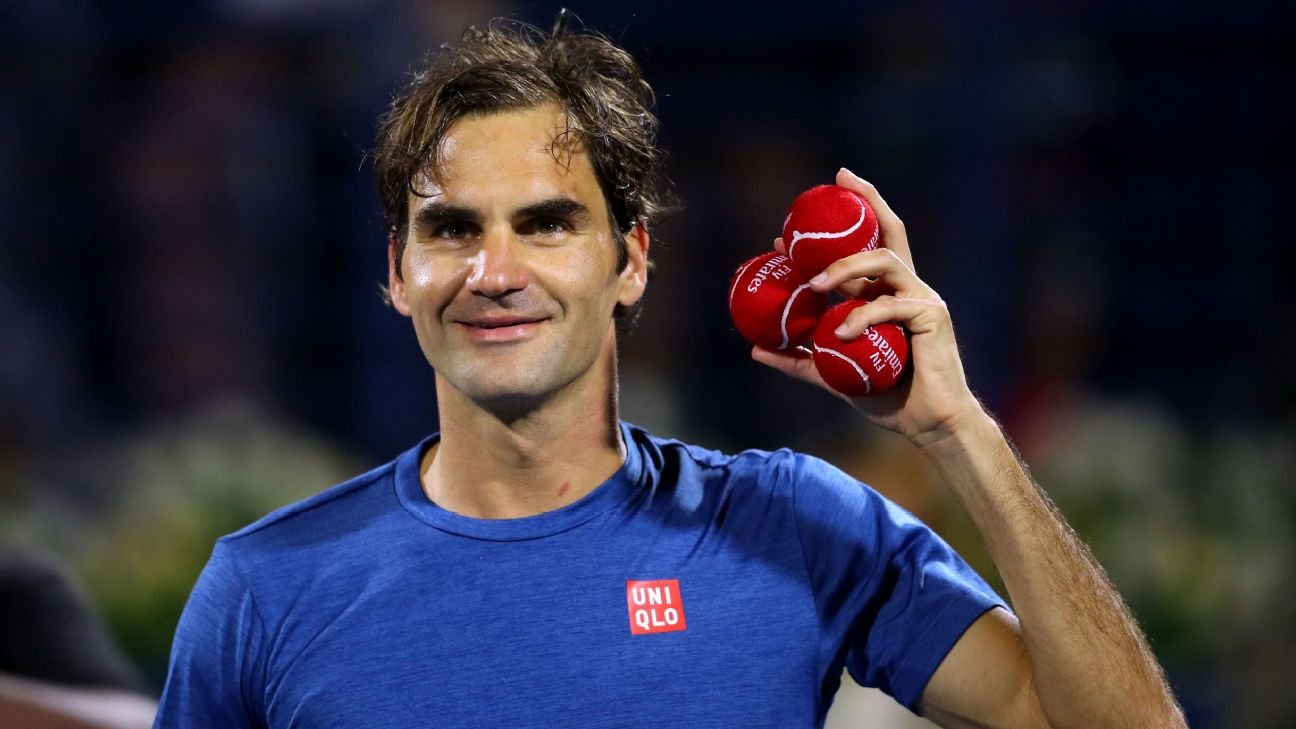 Roger Federer can win the 100th title of his career at the Dubai Championships Saturday after setting up a title match against 20-year-old Greek Stefanos Tsitsipas.