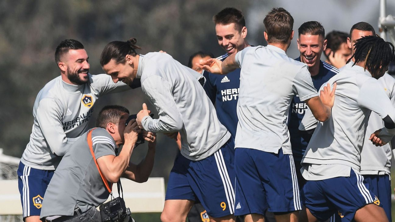 Zlatan Ibrahimovic got introduced to the LA Galaxy by being subjected to the Tunnel of Death.