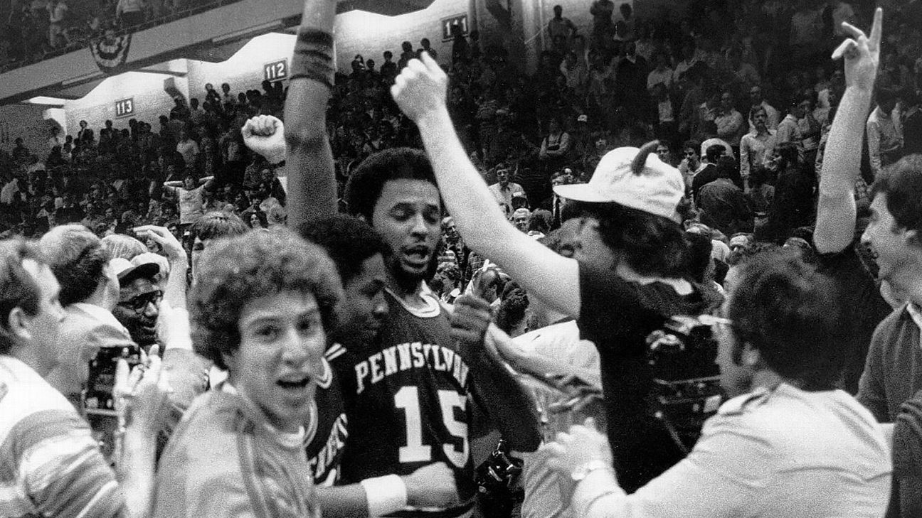 The 1979 Final Four saw Magic and Bird usher in basketball's modern era. A surprise entry, the Penn Quakers, harkened back to the game's past.