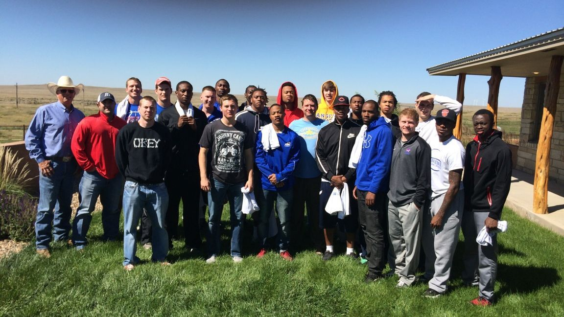 Angelo State's 2015 team retreat, above, set the stage for similar events Beard has held at Texas Tech.