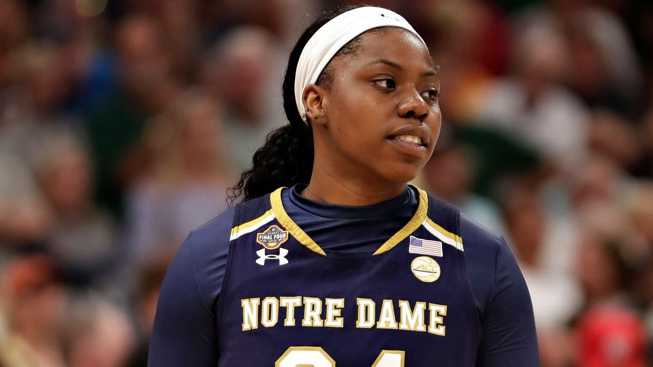 Last year, Arike Ogunbowale hit two game-winning shots as Notre Dame won the NCAA title. On Sunday, the usually clutch senior missed a key free throw.