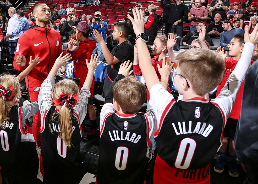Damian Lillard quickly became a fan favorite after Portland drafted him in 2012.