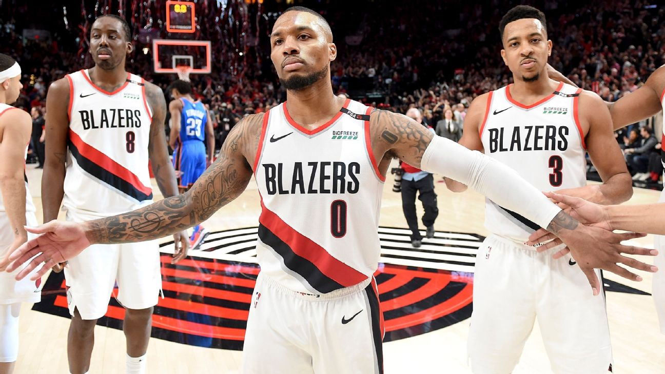 "Damian Lillard's calm, collected leadership has the Blazers in the playoffs for the sixth straight season. Said head coach Terry Stotts: ""I think Damian might be the best star leader in the league. ... He's the same guy every day."""