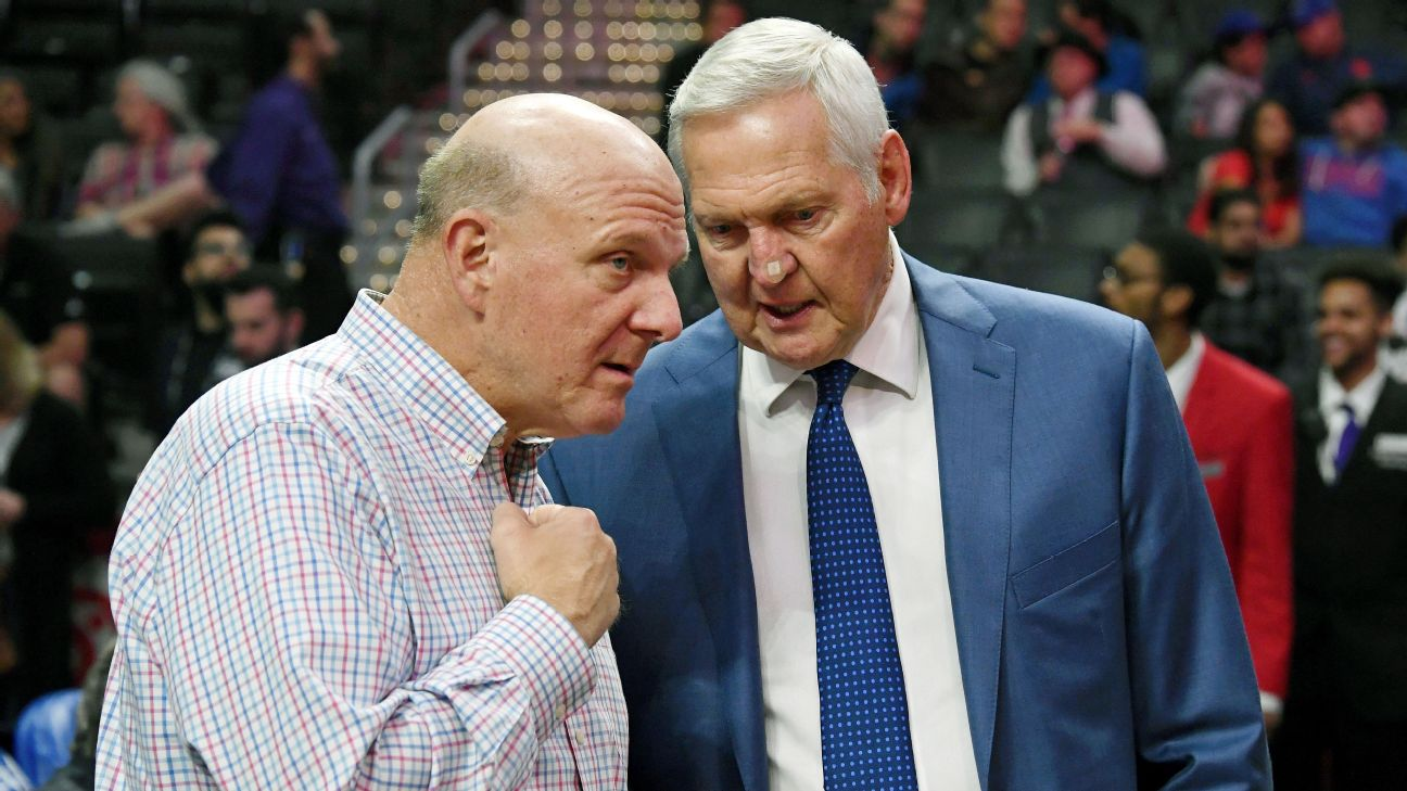 Clippers owner Steve Ballmer and team executive Jerry West can sign at least one max player and keep the roster intact this summer. Kirby Lee-USA TODAY Sports