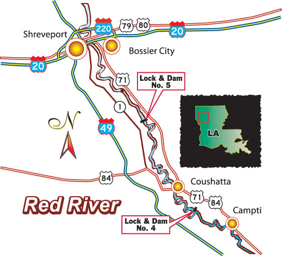 Red River Map Bing images