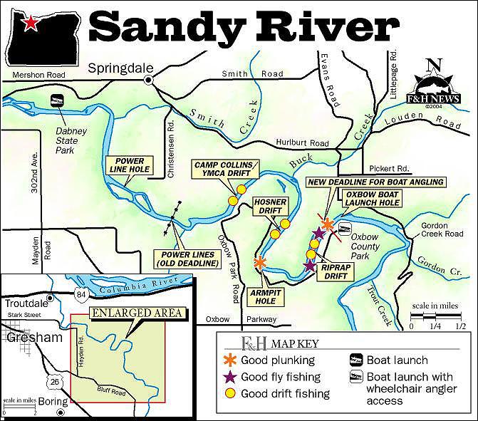 sandy river oregon map Sandy River Map sandy river oregon map